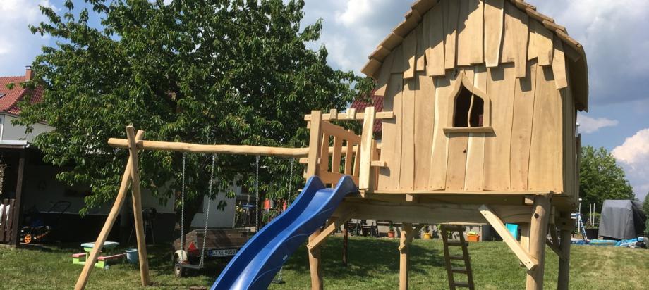 Spielturm, Kletterturm, Spielgeräte, Robinie